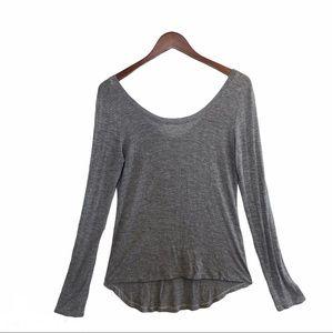 🌈 3/$30 Splendid Hi-Low Long Sleeve, Blk/W…
